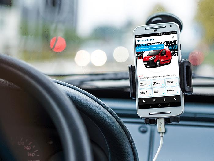 Mobiele app lease rijders (automotive)
