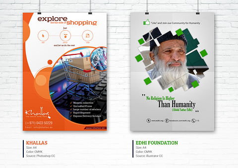 Creative Flyer Design for Khallas And Edhi Foundat