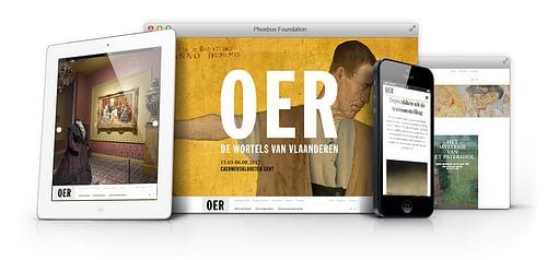 Responsive website voor de tentoonstelling OER - Website Creatie