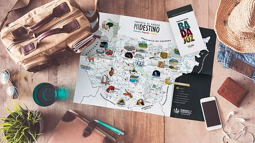 Mapa turístico de la provincia de Badajoz - Diseño Gráfico