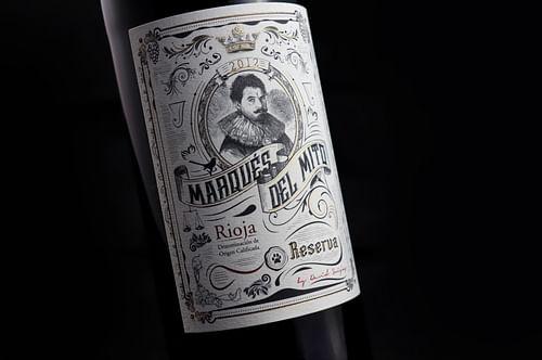 DIseño de etiqueta de Vino Marqués del Mito - Branding y posicionamiento de marca