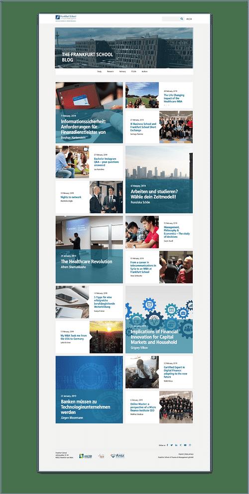 Frankfurt School - Création de site internet