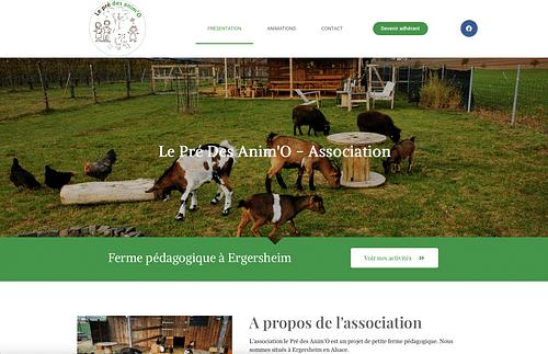 Site web Le pré des animo - Création de site internet