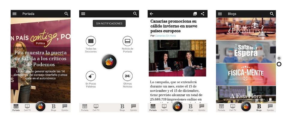 Desarrollo periódico digital y aplicación móvil
