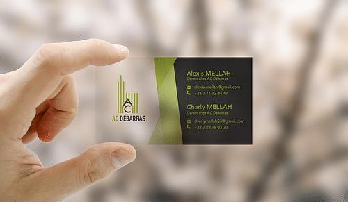 Conception de carte de visite pour AC Débarras - Design & graphisme