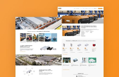 Refonte site vitrine I Forsee Power - E-commerce