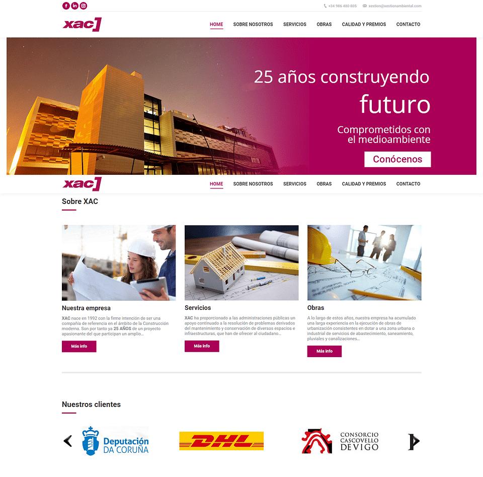 Desarrollo web XAC - Xestión Ambiental