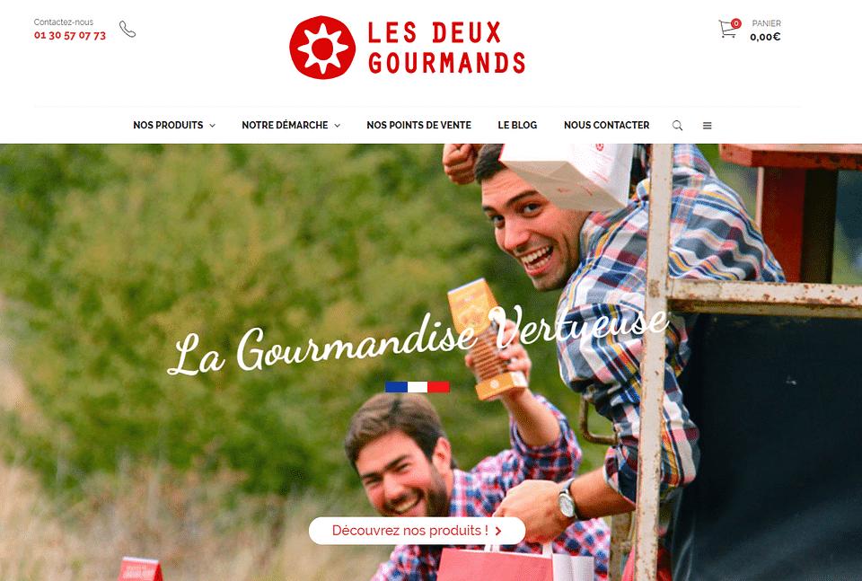 Développement du site Les Deux Gourmands