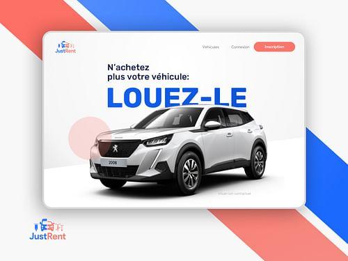 Site et dashboard Just Rent - Création de site internet