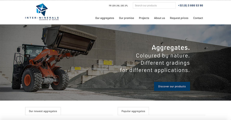 Multilanguage website for a construction provider