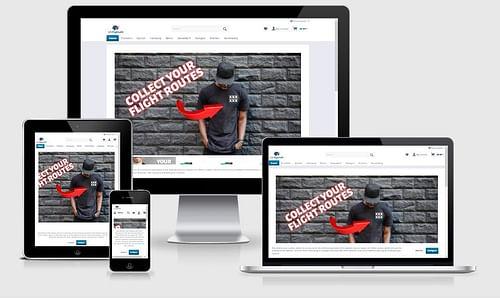 Onlineshop für US-Flights - E-Commerce