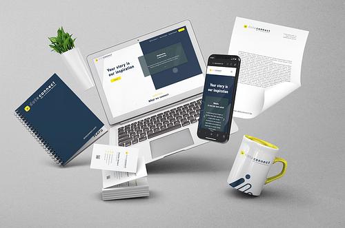 Dots Connect: Brand Identity & Website design - Ontwerp