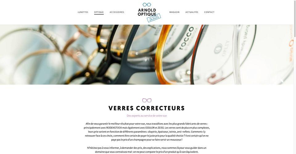 Stratégie web globale (360°) pour Arnold Optique