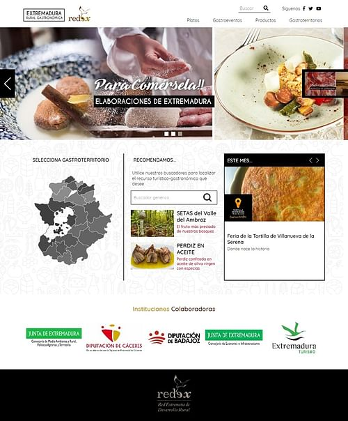 Extremadura Rural Gastronómica - Creación de Sitios Web