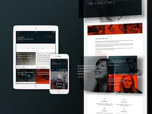 A meeting place for the Creative Industry of Antwe - Website Creatie