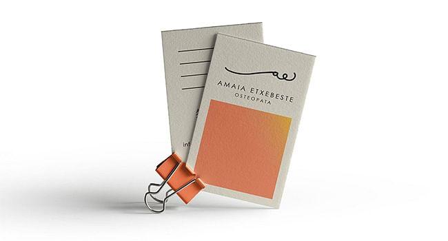 Logo y tarjetas para Amaia Etxebeste