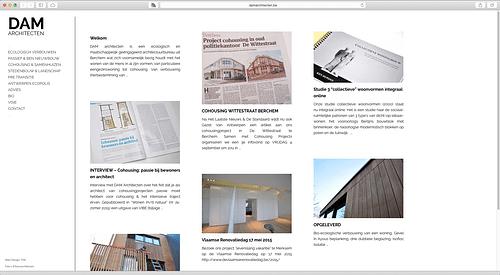 Dam Architecten - Website Creatie