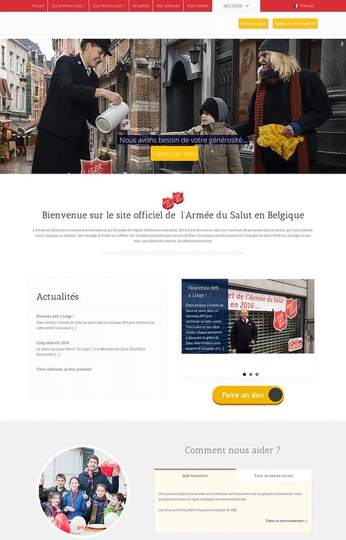 Armée Du Salut (Salvation Army) - Belgium - Création de site internet