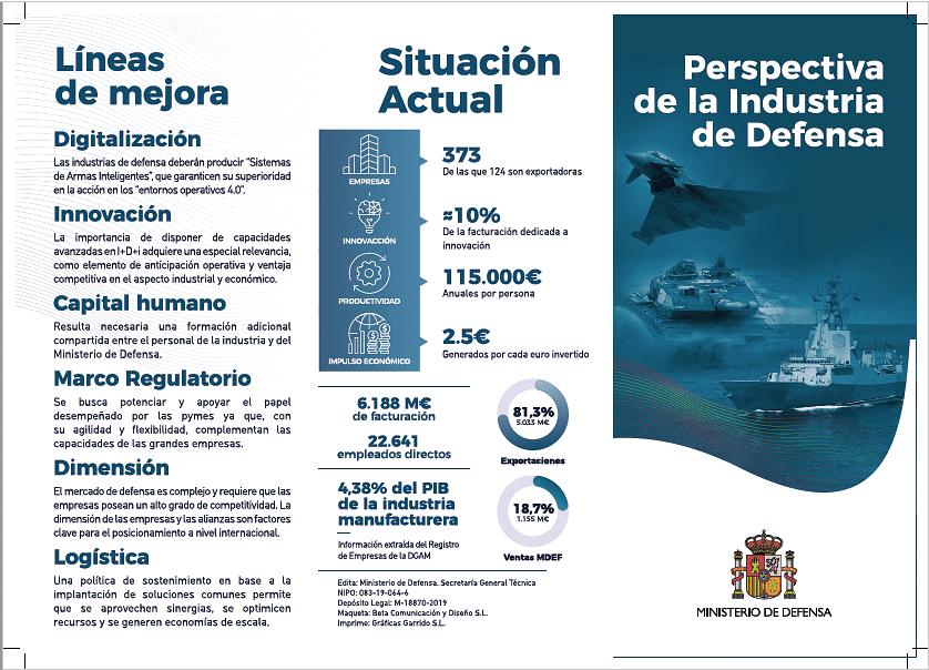 Tríptico resumen para el Ministerio de Defensa