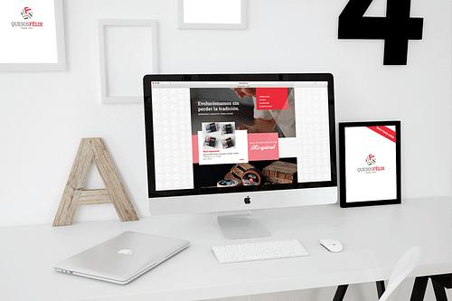 Diseño y desarrollo de ecommerce QUESOS FÉLIX - Publicidad