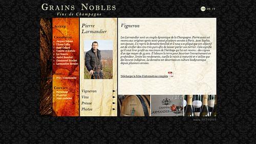 Grains Nobles - Création de site internet