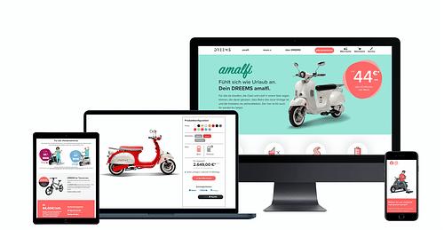 Markenbildung und Onlineshop für DREEMS - Digitale Strategie