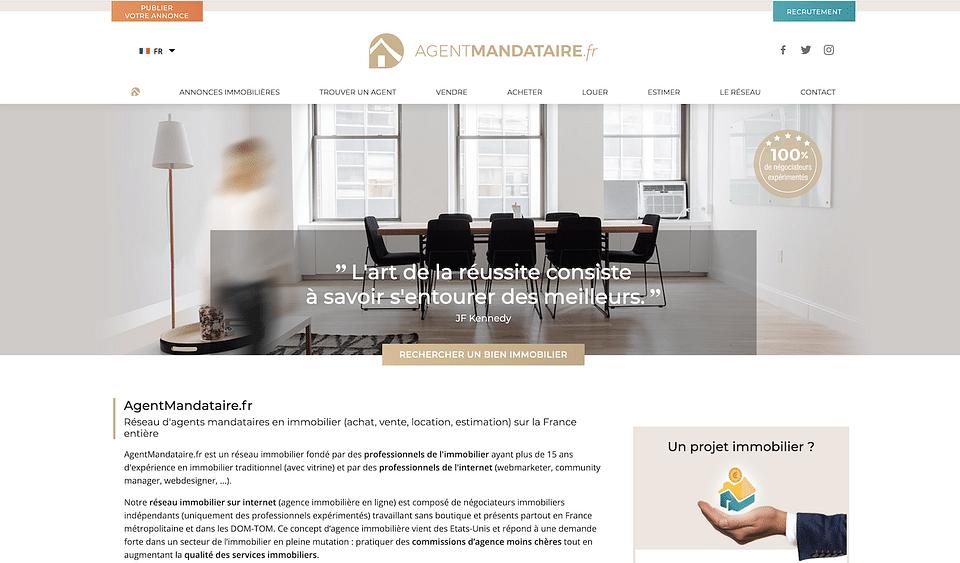 Création site internet Agent-Mandataire France