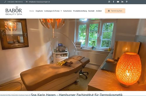 Neuerstellung Webseite für ein Kosmetikstudio - Website Creation