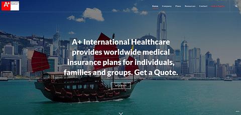 Website presentation for an insurance company