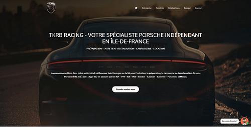Création Site Internet TKRB Racing - Création de site internet