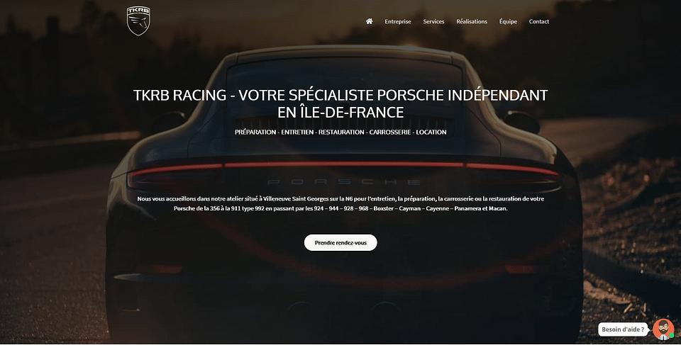 Création Site Internet TKRB Racing