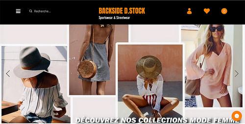 Site E-commerce Backside D.Stock - Création de site internet