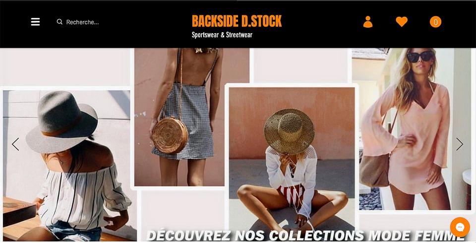 Site E-commerce Backside D.Stock