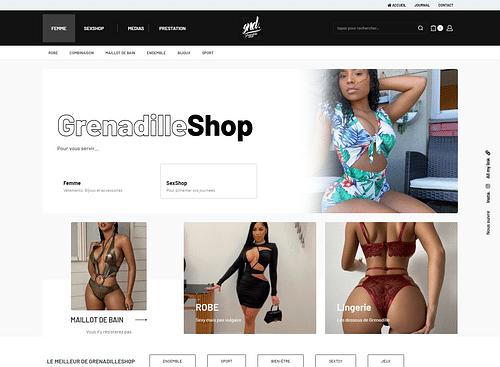 Boutique de prêt-à-porté féminin - E-commerce