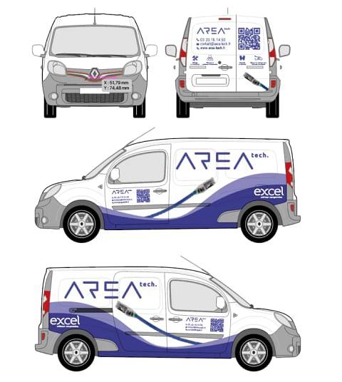 Signalétique véhicule - AREA Tech