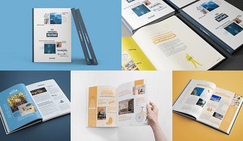 Book des voyages Kyriad - lancement de produit - Image de marque & branding