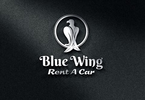 Logo Design for Blue Wing Rent a Car
