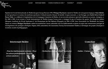 Site vitrine pour un comédien Philippe Peychaud