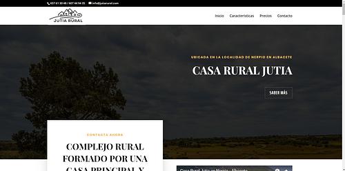 Landing Page de la Casa Rural Jutia - Creación de Sitios Web