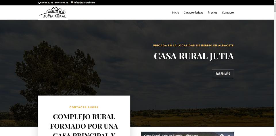 Landing Page de la Casa Rural Jutia