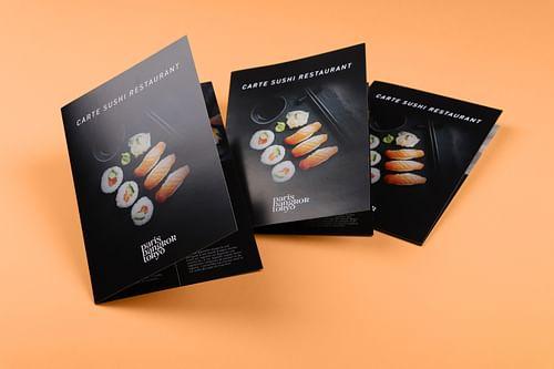 Cartes de mets et bons cadeaux pour un restaurant - Design & graphisme