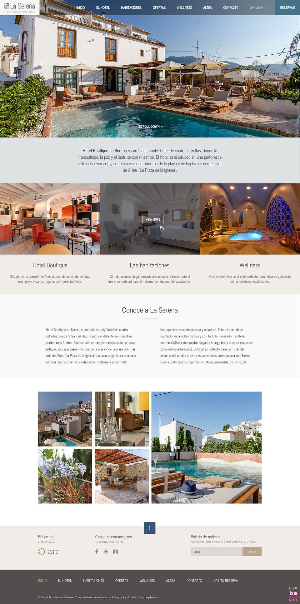Página Web Hotel La Serena Altea
