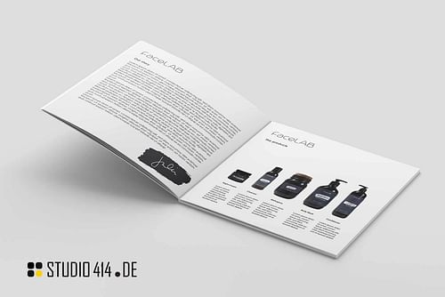FaceLAB Etikettendesign für Kosmetikprodukte - Markenbildung & Positionierung