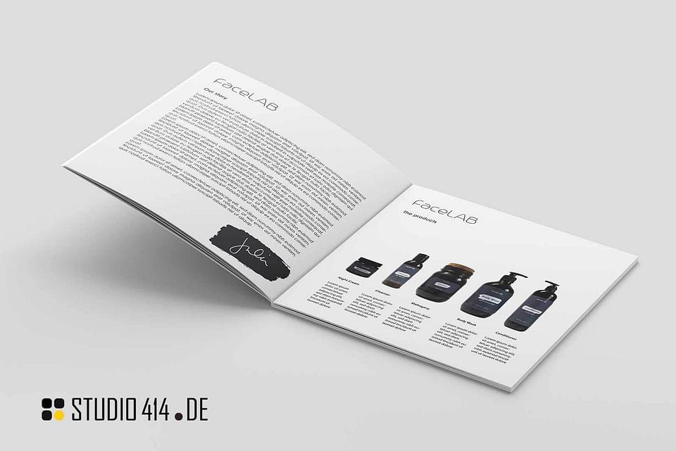 FaceLAB Etikettendesign für Kosmetikprodukte