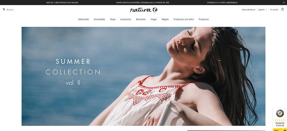 Tienda Online a medida para Natura