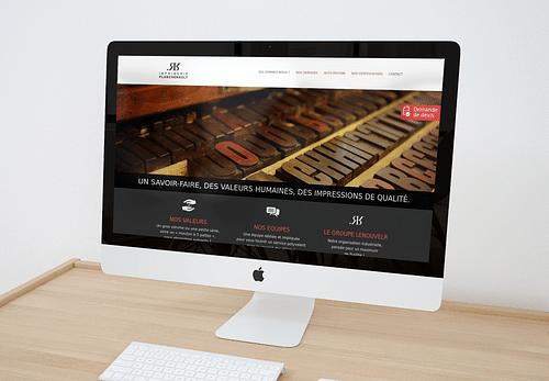 Site vitrine Imprimerie Planchenault - Website Creation