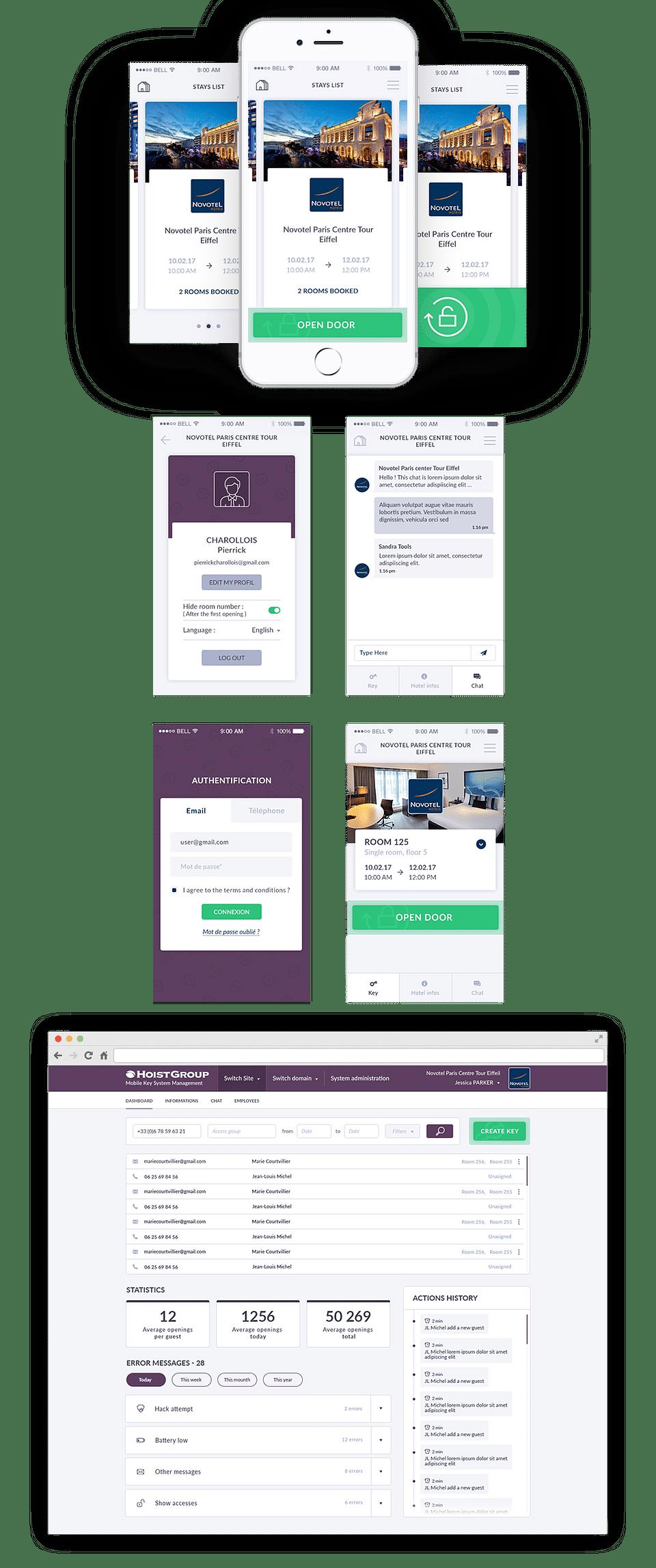 Application mobile - Hoist Group