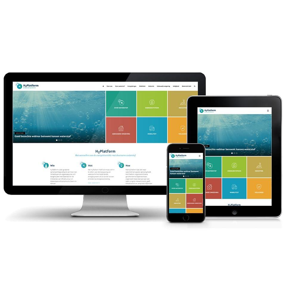 "Wordpress website ""opwegmetwaterstof.nl"""