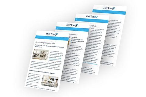 Webseite, Branding und Contentmarketing für Mie...