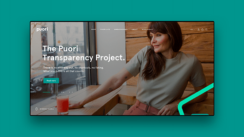 Web Design and Ecommerce for Puori - Digital Strategy